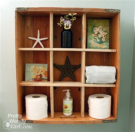 country girl home decorating my shelves bread crate display shelf tutorial by brittany at pretty
