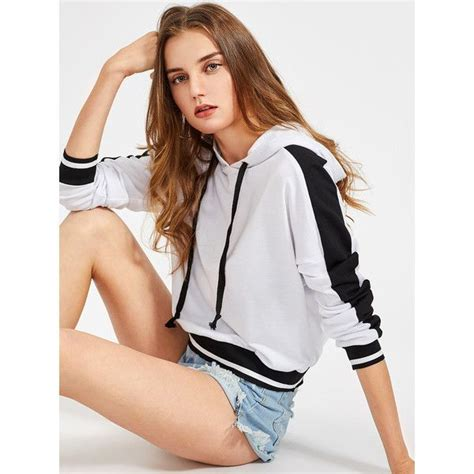 Striped Panel Sleeve Top best 25 striped hoodies ideas on forever 21