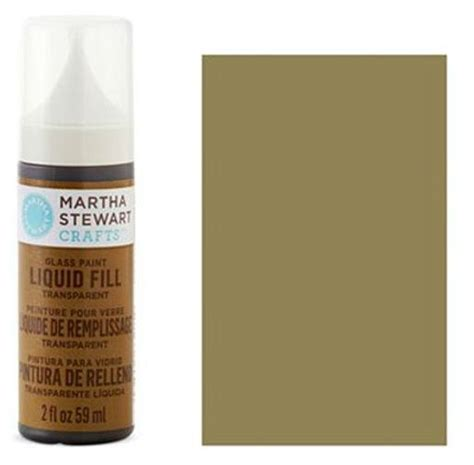 martha stewart crafts liquid fill transparent glass paint 2oz tea
