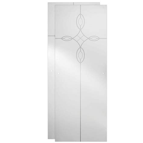 Delta Glass Shower Doors Delta 48 In Sliding Shower Door Glass Panels In Tranquility 1 Pair Sdgs048 Clq R The Home Depot