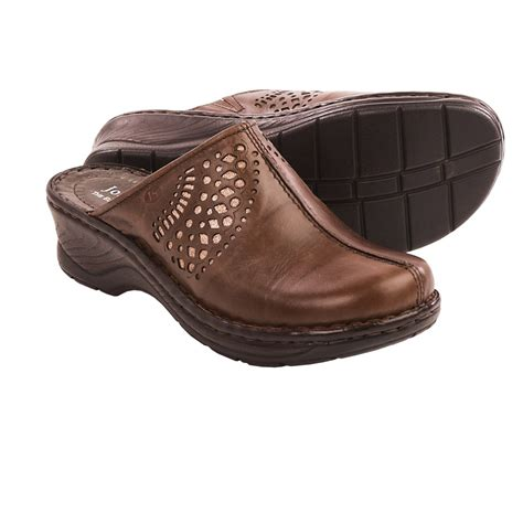 leather clogs for josef seibel catalonia 28 leather clogs for save 81