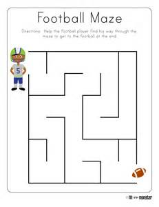 maze template football week free printable m is for