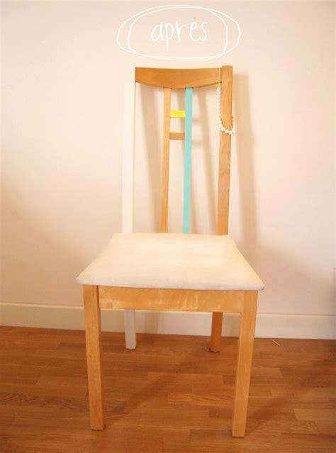 peindre une chaise en bois diy peindre une chaise en bois 224 essayer avec du masking