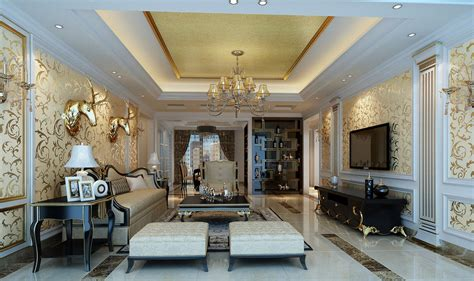 Neoclassical Living Room by Soft Wall Unit For Living Room Neoclassical 3d House
