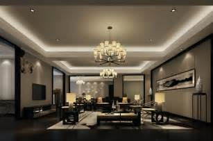 Interior Spotlights Home Light Blue Living Room Interior Lighting Design Rendering 3d House