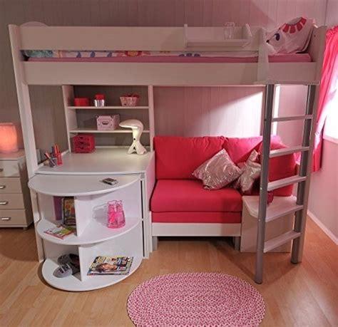 white loft beds with desk foter