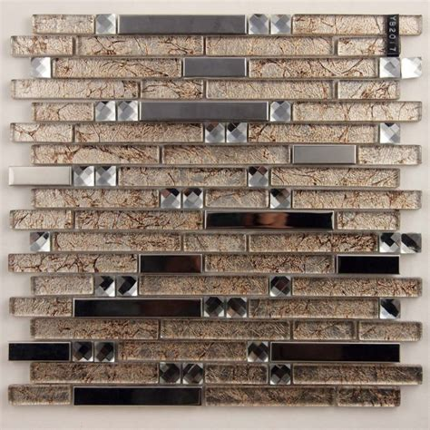 stainless steel and glass tile backsplash metal and glass silver stainless steel backsplash