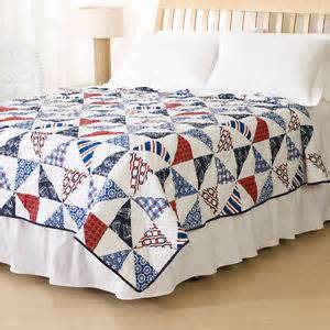 Nautical Bed Quilts by Cooper Nautical Print Quilt Brand New In
