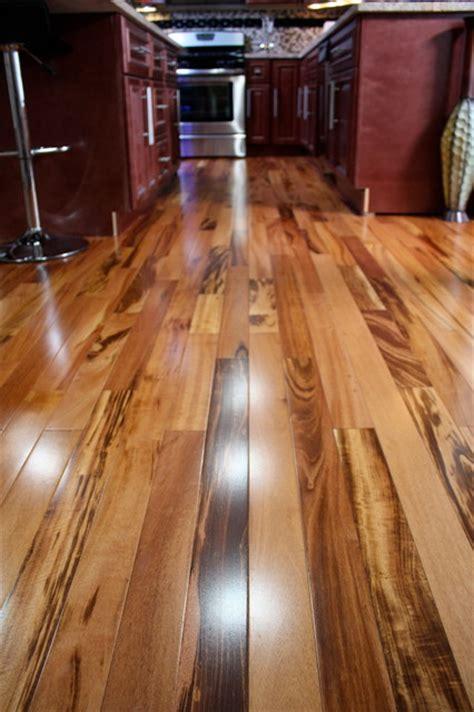 exotic brazilian tigerwood koa prefinished modern hardwood flooring minneapolis