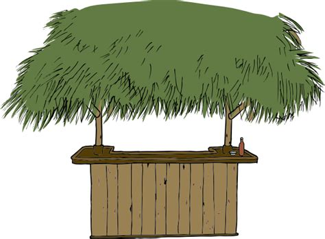 Tiki Hut Clipart tiki bar clip at clker vector clip royalty free domain