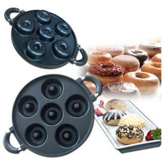 Cetakan Donat Teflon cetakan donat teplon pan 6 lubang loyang donut maker tanpa