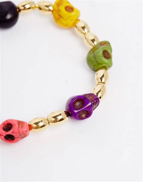skull bead bracelet adele adele skull bead bracelet at asos