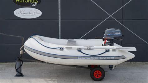 4 pk rubberboot quicksilver 240 rubberboot met 4 pk yamaha four stroke