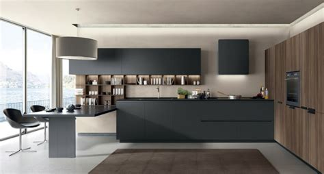 black kitchen with island black rok kitchen design cucina filolain lain multisystem
