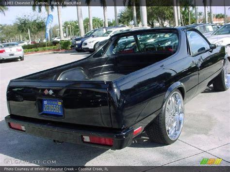 el camino black 1983 chevrolet el camino in black photo no 26127123
