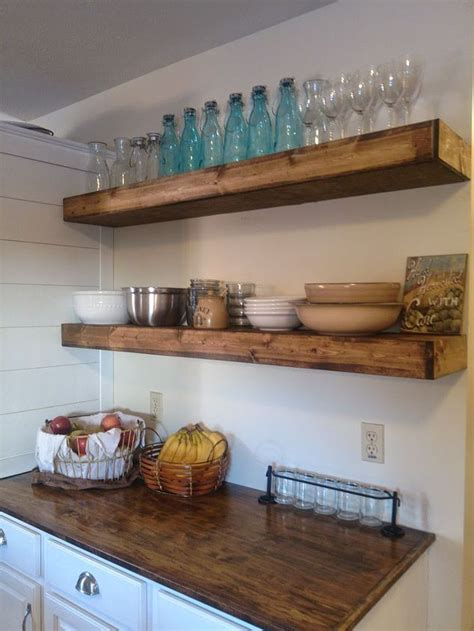 floating shelves ideas 65 ideas of using open kitchen wall shelves shelterness