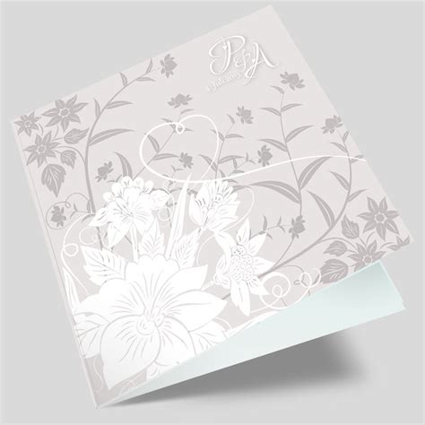 Hochzeitseinladung Floral by Hochzeitseinladung Florale Elemente In Grau