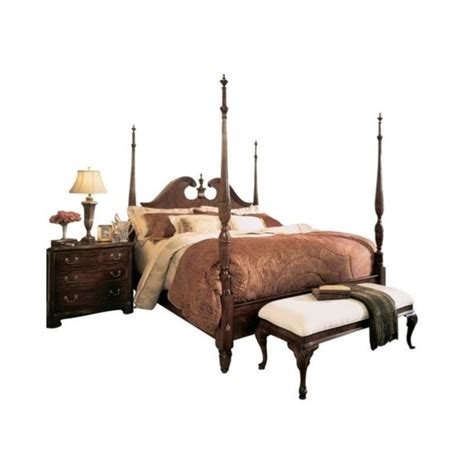 cherry grove low poster bed 2 piece bedroom set 791 38xr pkg american drew cherry grove pediment wood poster bed 3