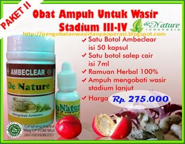 Ambeclear By Herbal De Nature obat herbal alami uh wasir bengkak ambeclear