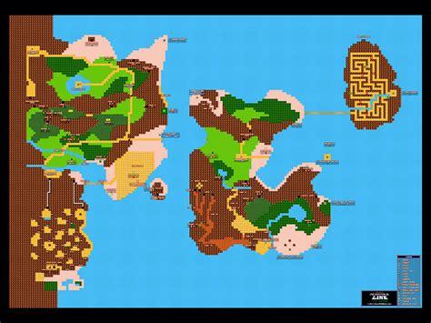 legend of zelda overworld map quest 2 zelda ii 2 the adventure of link overworld 24 quot x 18 quot poster