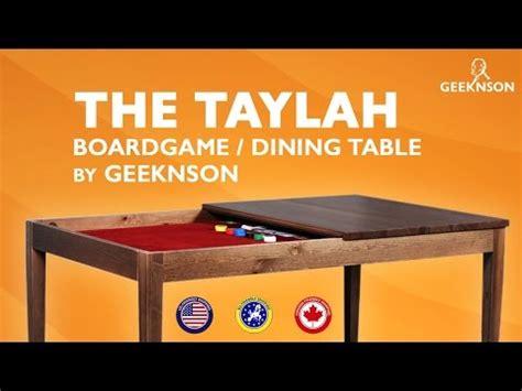 Board Table Taylah Kickstarter