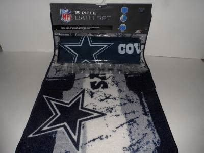 dallas cowboys bathroom sets nfl dallas cowboys 15 piece bath set shower curtain