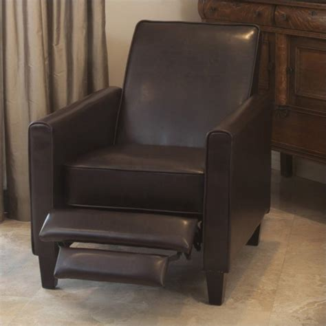 reclining leather club chair noble house delouth leather club chair recliner ebay