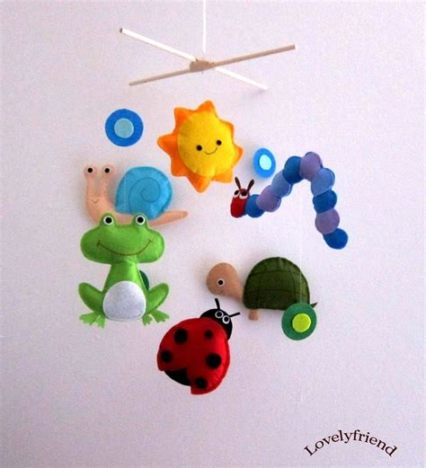 Etsy Crib Mobile by Baby Crib Mobile Baby Mobile Ladybug Decorative Mobile Quot Happy Caterpillar And Ladybug