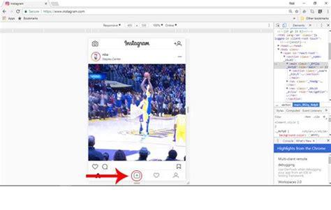 tutorial instagram di pc begini cara upload foto di instagram lewat pc tanpa