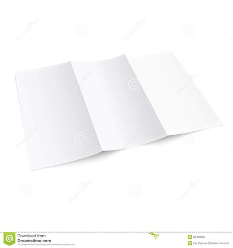 How To Make A Trifold Brochure With Paper - blank trifold paper brochure royalty free stock photos
