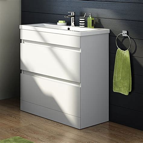 white gloss bathroom sink unit 800mm white gloss vanity sink unit ceramic basin bathroom