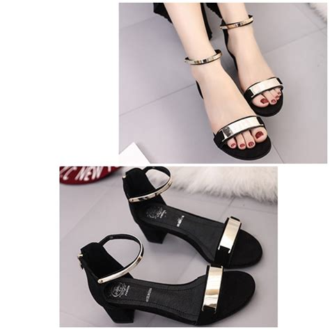 Sepatu High Heels Wanita 5cm Uc03 jual shsa8 black sepatu heels cantik elegan import 5cm
