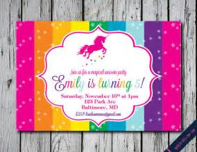 unicorn invitation rainbow unicorn birthday party invitation