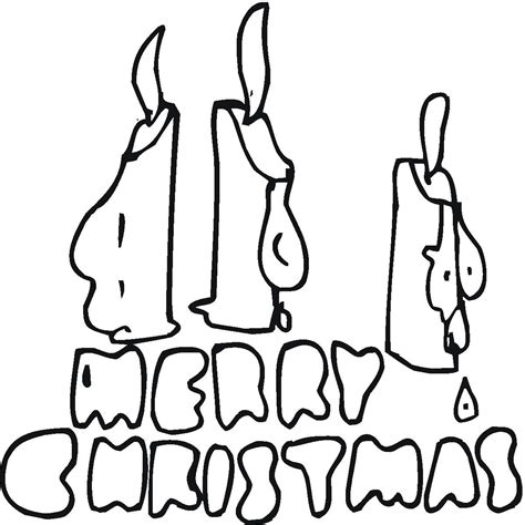 Merry Christmas Santa Coloring Merry Letters Coloring Pages