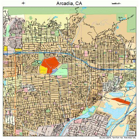 arcadia california map arcadia california map 0602462
