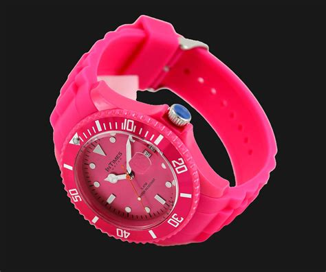 Jam Tangan 1504mp Pink intimes it057 flora pink jam tangan wanita merah jambu jamtangan