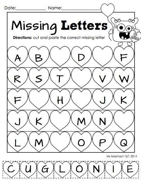 day kindergarten activities february printable packet kindergarten literacy and math