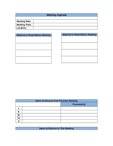 2018 meeting agenda template fillable printable pdf