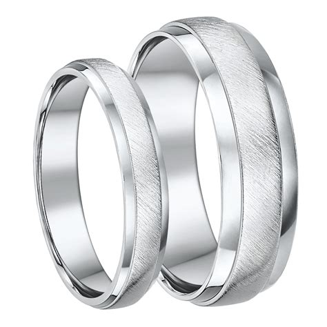 view full gallery    silver matching wedding bands