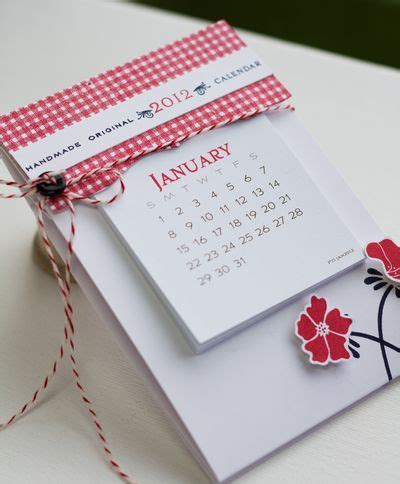 Handmade Calendar Ideas - handmade calendar fits in an envelope ideas