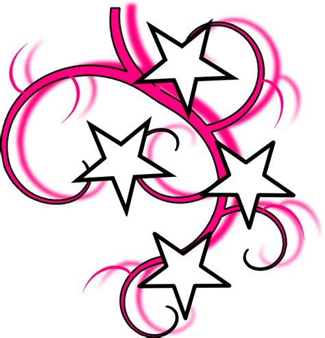 star and swirl tattoo designs clip at clker vector clip