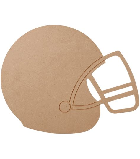 How To Make A Football Helmet Out Of Paper - mdf wood shape football helmet 9 1 quot x11 6 quot jo