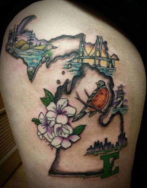michigan tattoos best 25 michigan tattoos ideas on state