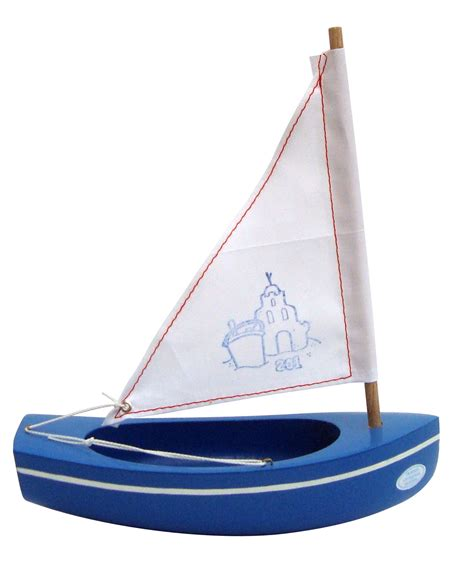 small boat toy small toy wooden boat 201 sandcastle blue 20cm fun