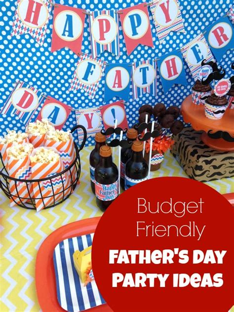 budget friendly father day party ideas catch my party