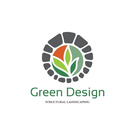 green plans green design landscaping logo design logo cowboy