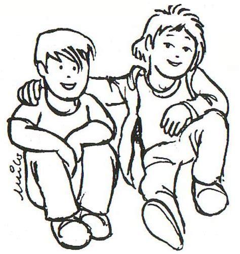 imagenes para amigos fiesteros dibujo para colorear amigos 01