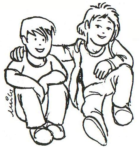 imagenes amistad para dibujar dibujo de dos amigos imagui
