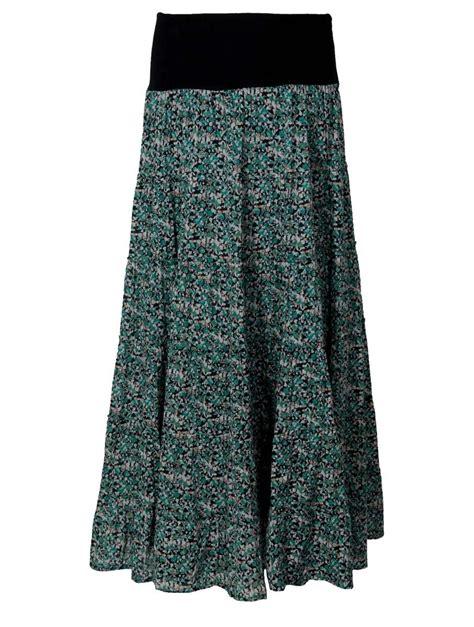 hippy skirt bohemian skirt floral print maxi skirt