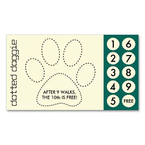 fitness punch card template free printable walking business cards images card